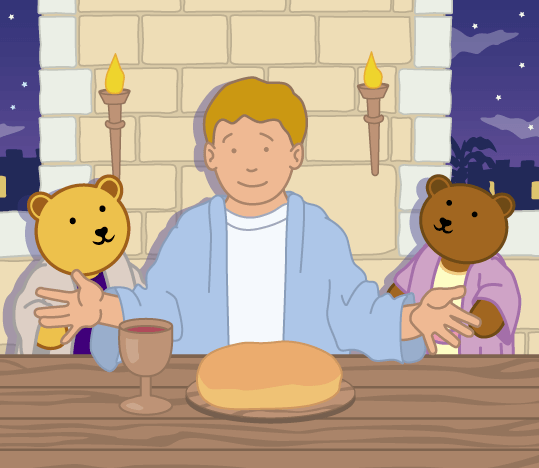 Teddy Horsley feasts with Jesus - 14