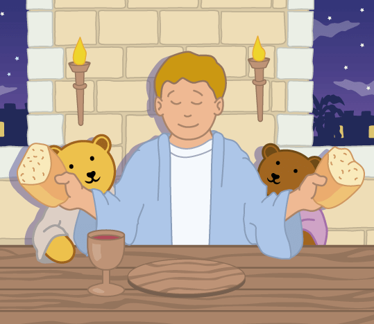 Teddy Horsley feasts with Jesus - 15