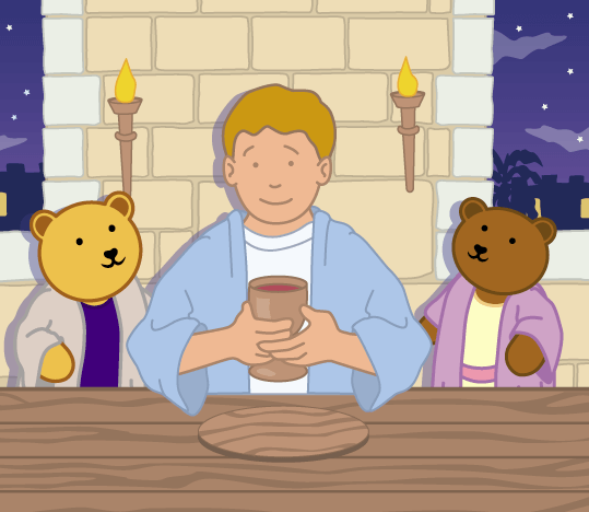 Teddy Horsley feasts with Jesus - 16