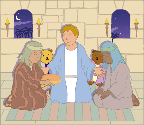 Teddy Horsley feasts with Jesus - 21