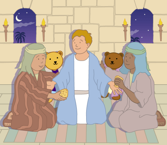 Teddy Horsley feasts with Jesus - 23