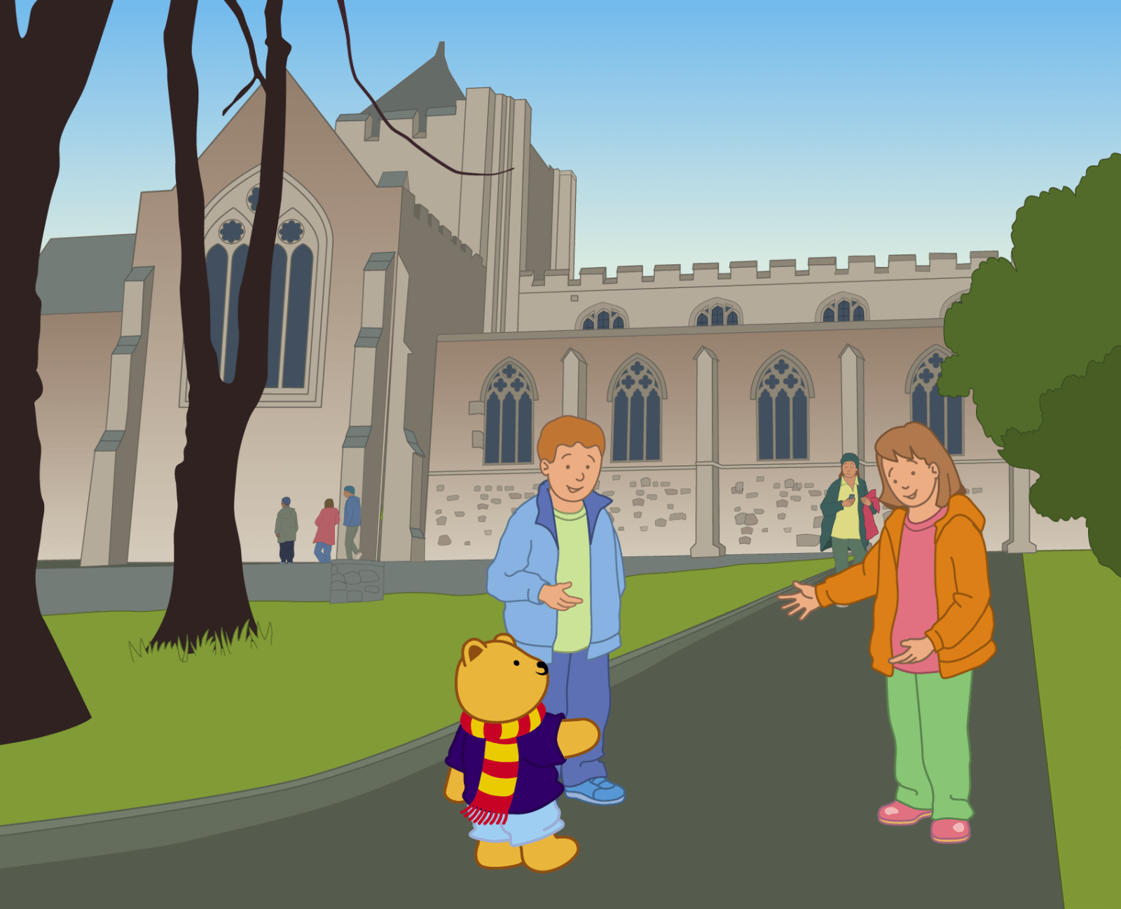 Teddy at Bangor Cathedral - 1