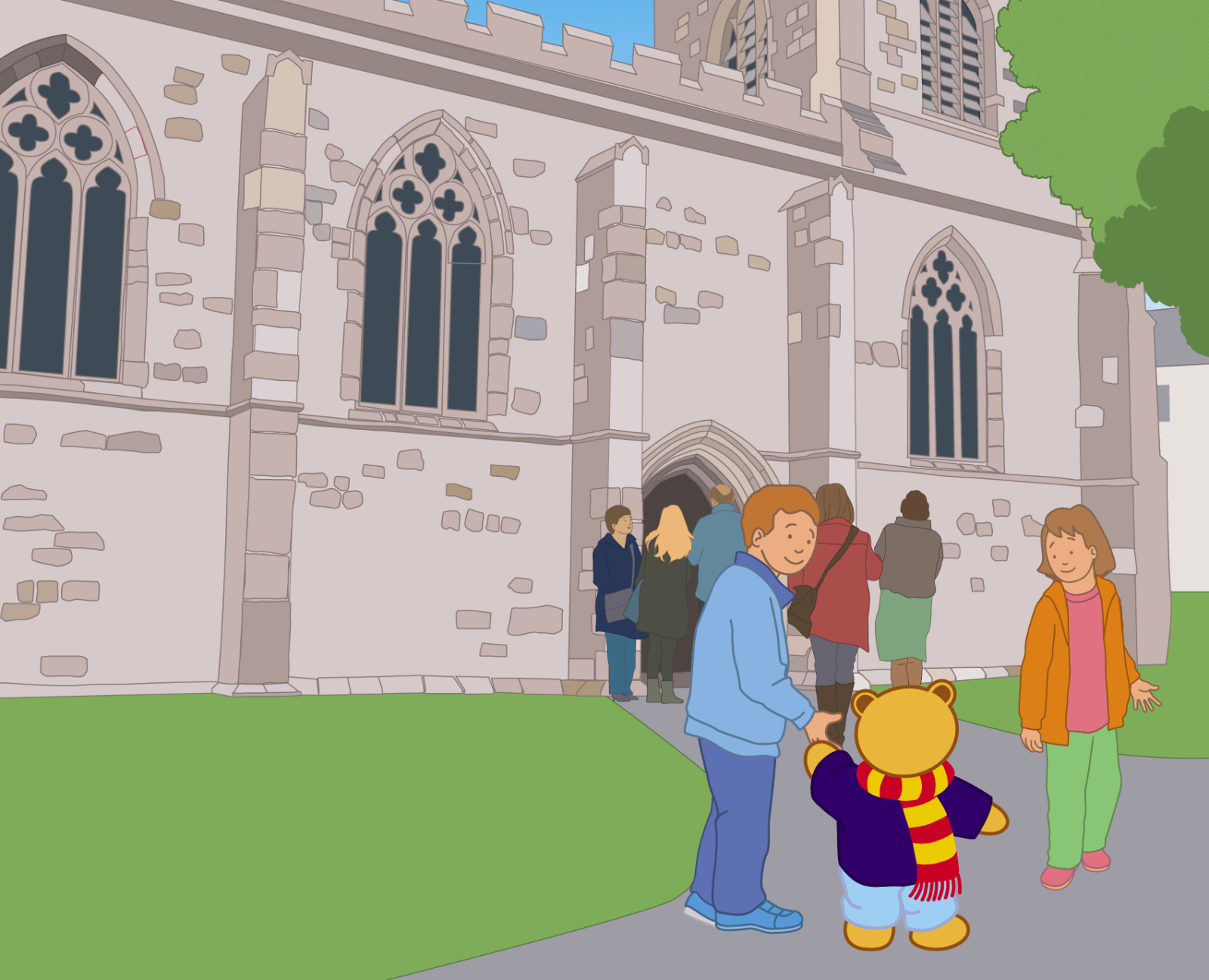 Teddy at Bangor Cathedral - 2
