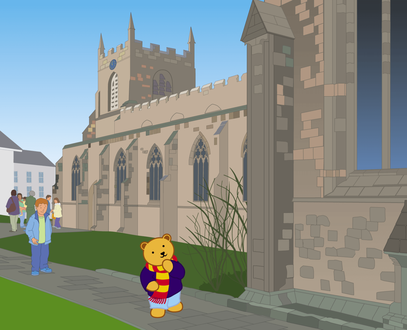 Teddy at Bangor Cathedral - 4