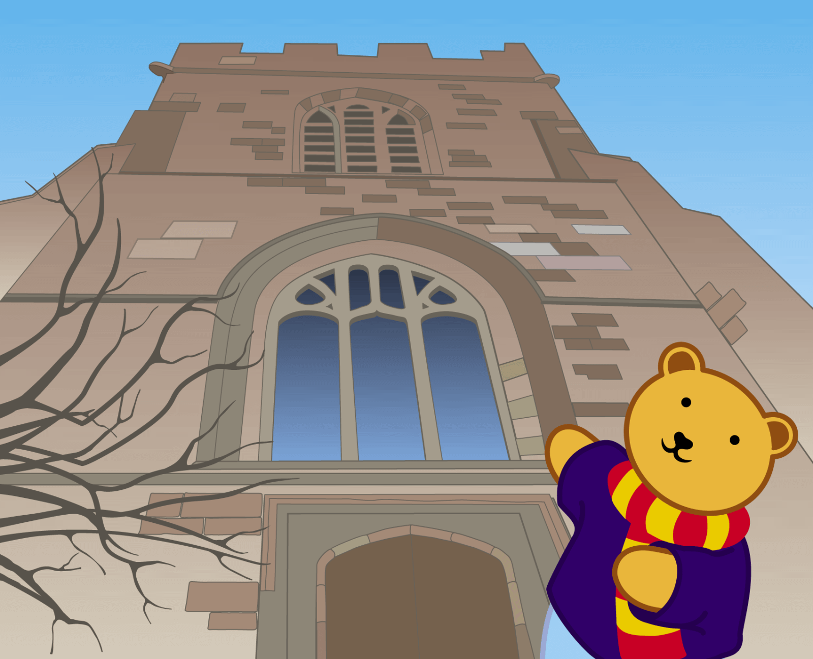 Teddy at Bangor Cathedral - 5