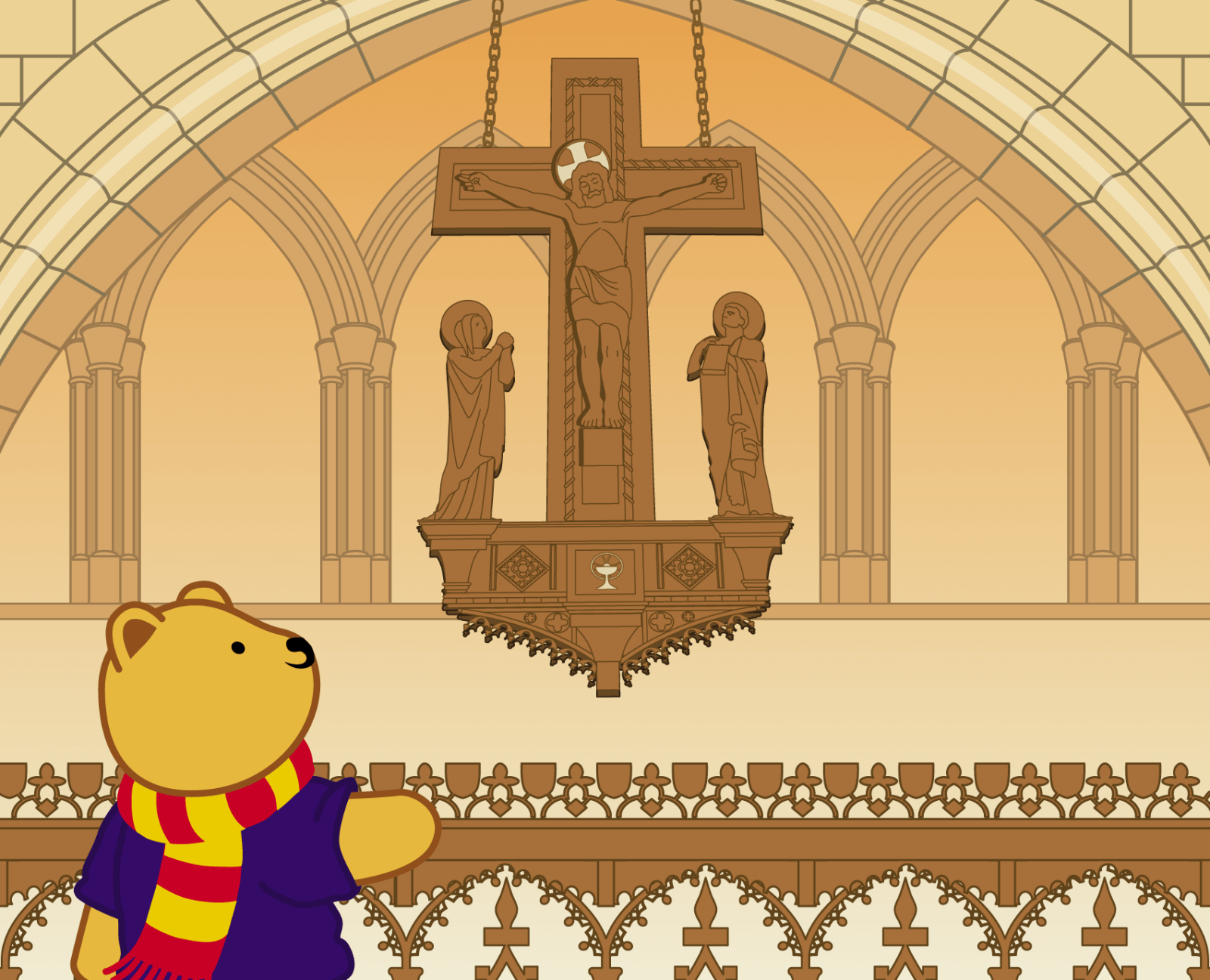 Teddy at Bangor Cathedral - 6