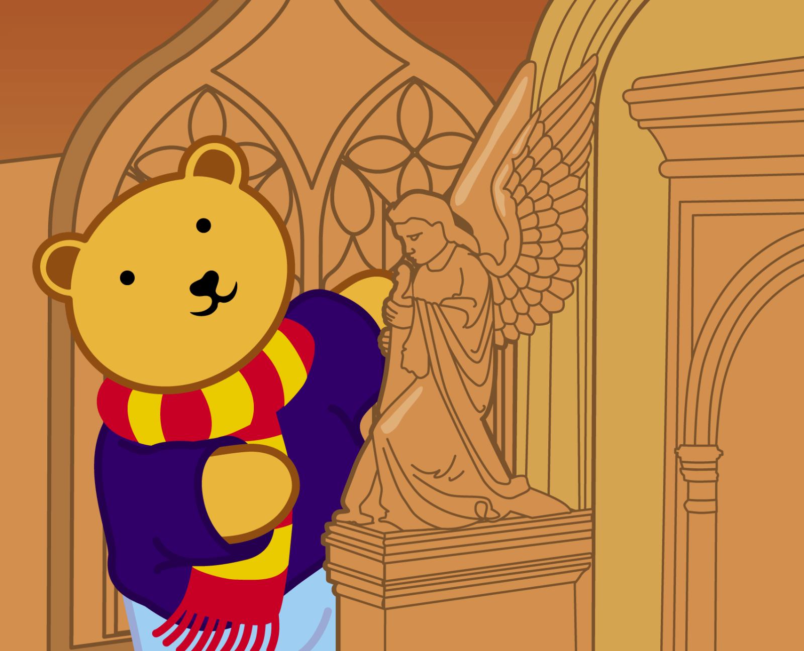Teddy at Bangor Cathedral - 14