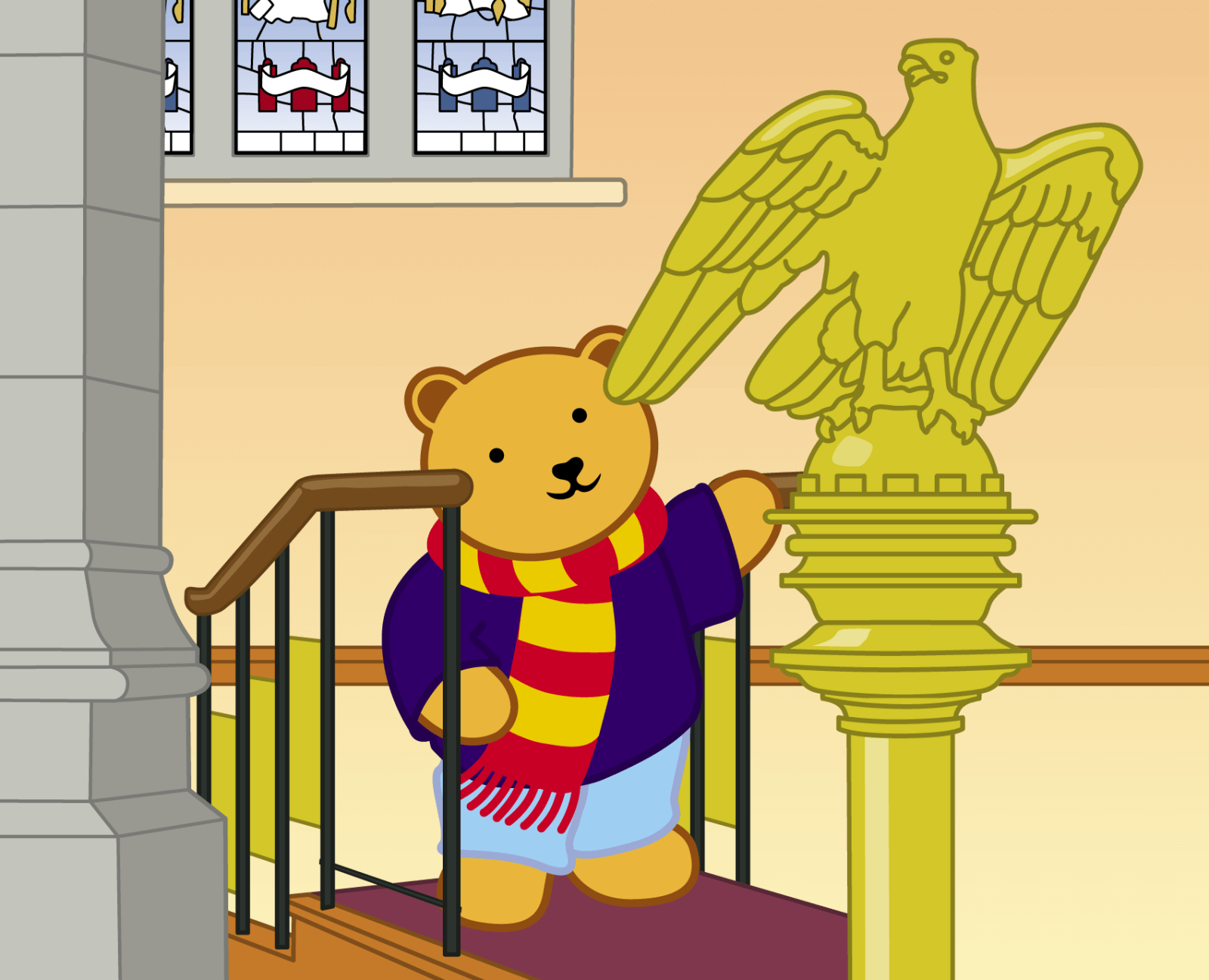 Teddy at Bangor Cathedral - 19